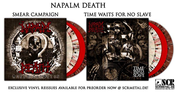 Vinyl Reissues Official Napalm Death Homepage